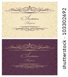 invitation cards gold and... | Shutterstock .eps vector #103302692