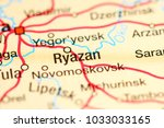 ryazan  russia on a map | Shutterstock . vector #1033033165