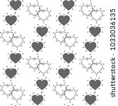 vector seamless pattern with... | Shutterstock .eps vector #1033036135