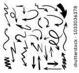 vector abstract black hand...   Shutterstock .eps vector #1033036378