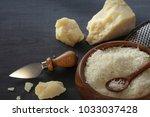 italian parmesan   grana padana ... | Shutterstock . vector #1033037428