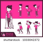 2tone type pants style... | Shutterstock .eps vector #1033042372