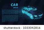 car from the particles. the car ... | Shutterstock .eps vector #1033042816