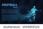 football of the particles.... | Shutterstock .eps vector #1033043122