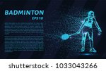 badminton consists of particles.... | Shutterstock .eps vector #1033043266