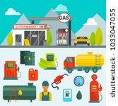 oil tank in cargo service... | Shutterstock .eps vector #1033047055