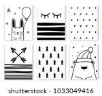 set of scandinavian design... | Shutterstock .eps vector #1033049416