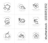 vector set design monochrome...   Shutterstock .eps vector #1033051552