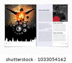 brochure layout with music... | Shutterstock .eps vector #1033054162