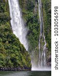 scenery at milford sound  south ... | Shutterstock . vector #1033056598
