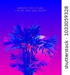 areca palm leaves on bright... | Shutterstock .eps vector #1033059328