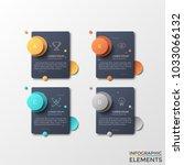 four separate black rectangles...   Shutterstock .eps vector #1033066132