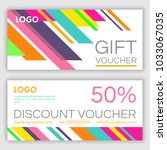 gift voucher template. vector... | Shutterstock .eps vector #1033067035