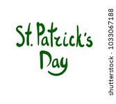 st.patric's day green lettering ... | Shutterstock .eps vector #1033067188
