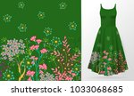 cute pattern in small simple... | Shutterstock .eps vector #1033068685