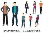set of men and women standing ... | Shutterstock .eps vector #1033069456