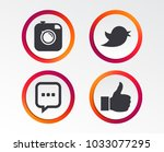 hipster photo camera icon. like ... | Shutterstock .eps vector #1033077295