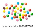 colorful chocolate candy pills... | Shutterstock . vector #1033077382