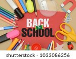 back to school concept with...   Shutterstock . vector #1033086256