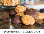 chocolate cookies and oat...   Shutterstock . vector #1033086775