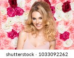 beauty happy model girl with... | Shutterstock . vector #1033092262