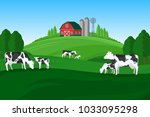 vector milk farming... | Shutterstock .eps vector #1033095298