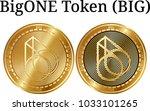 set of physical golden coin...   Shutterstock .eps vector #1033101265