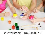 easter holiday  happy family ... | Shutterstock . vector #1033108756