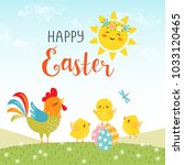 Easter Background Of Cute...