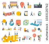 flat design people concept... | Shutterstock .eps vector #1033120762