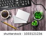modern workspace vector set... | Shutterstock .eps vector #1033121236