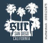 surfing artwork. black's beach... | Shutterstock .eps vector #1033121875