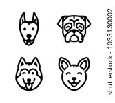 dogs icon set | Shutterstock .eps vector #1033130002