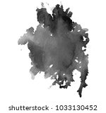 black watercolor stain.... | Shutterstock . vector #1033130452