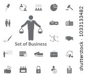 businessman scales icon. simple ... | Shutterstock .eps vector #1033133482