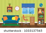 a cozy interior of a children's ... | Shutterstock .eps vector #1033137565