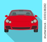 car single icon in flat style... | Shutterstock . vector #1033138282