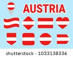 austria flag collection. vector ... | Shutterstock .eps vector #1033138336