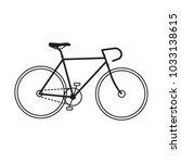 frame bicycle icon. track bike... | Shutterstock .eps vector #1033138615