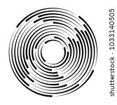 concentric rotating circular... | Shutterstock .eps vector #1033140505