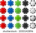 four sets of poker chips  5... | Shutterstock .eps vector #1033142896