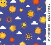 sun vector yellow planets... | Shutterstock .eps vector #1033144552