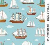 vector ship boat miniature... | Shutterstock .eps vector #1033144636