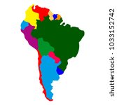 political map of south america | Shutterstock .eps vector #1033152742