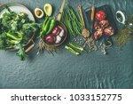 winter vegetarian  vegan food... | Shutterstock . vector #1033152775