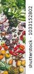 helathy raw vegan food cooking...   Shutterstock . vector #1033152802