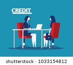 credit manager character at... | Shutterstock .eps vector #1033154812