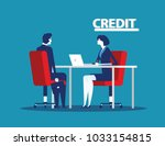 credit manager character at... | Shutterstock .eps vector #1033154815