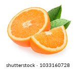 orange fruits isolated on white ... | Shutterstock . vector #1033160728