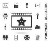 fantastic icon. set of cinema ... | Shutterstock .eps vector #1033163206
